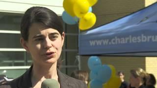 2 juillet 2012 - Départ des cyclistes du Centre de cancérologie Charles-Bruneau