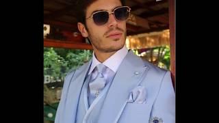 Light Blue Fashion Slim Fit Groom Suit Model 2742 Ottavio Nuccio Gala