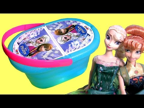 Disney Frozen Fever Picnic Basket Toy Play Doh Cestino Picknick-Korb Cesta Panier Pique-nique Mp3