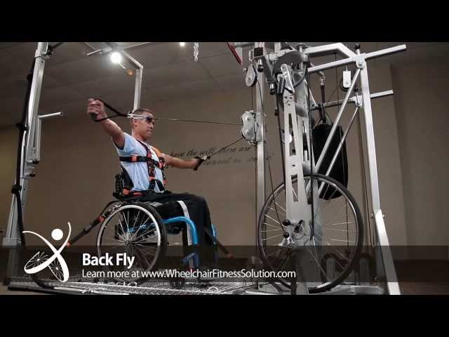 Wheelchair Fitness Solution | Exercise: Back Fly (25 of 40)