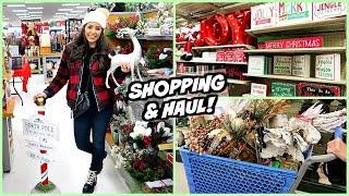 SHOP WITH ME & HAUL! T.J.MAXX & HOBBY LOBBY CHRISTMAS DECOR!