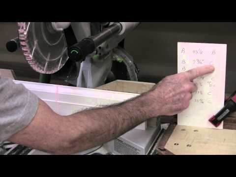 Installing Baseboard: Cutting a baseboard cutlist