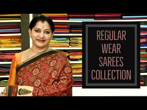 "<p style=""color: red"">Video : </p>REGULAR WEAR SAREES COLLECTION||GAYATHRI REDDY  gayathri regular office wear sarees collection 2020-09-25"
