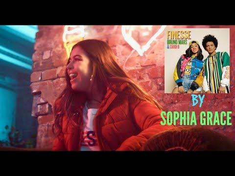 SOPHIA GRACE SINGS - BRUNO MARS Finesse FT CARDI B.