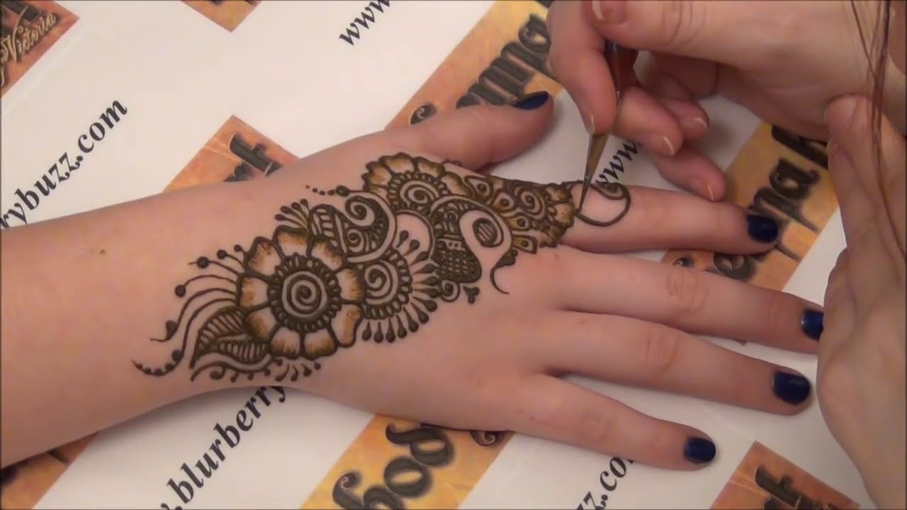 temporary tattoo mehndi design by blur berry buzz body art
