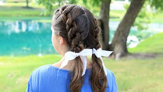 Double Knotted Braids | Cute Girls Hairstyles