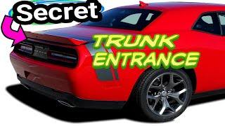 Emergency Trunk Entrance. Dodge Challenger Charger Chrysler 300 How to get inside your trunk.