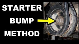 Starter Bump Method - Toyota Crankshaft Pulley Bolt Removal 22R Series Engine Stubborn Stuck Fix
