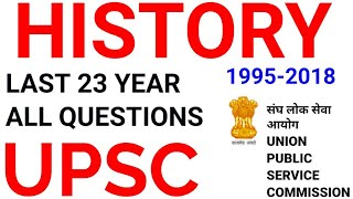 UPSC HISTORY ALL PREVIOUS YEAR QUESTIONS mcq top most important GK gs ias ips cse indian itihas pre