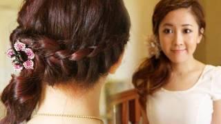 Для самых модных девчонок, Elegant Braided Summer Hairstyle