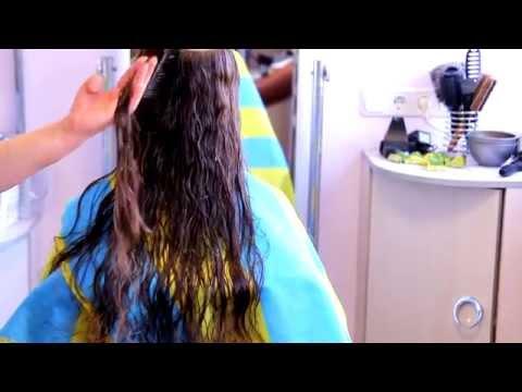 Стрижка на длинных вьющихся волосах. Объем на макушке