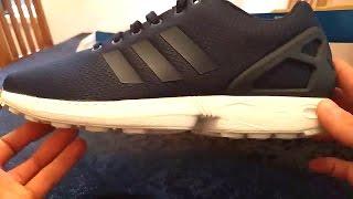 334.000 unboxing nuove adidas zx flusso avanzata bianco & nero   su piedi più
