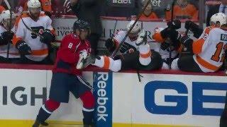 Gotta See It: Ovechkin checks Schenn into Flyers bench