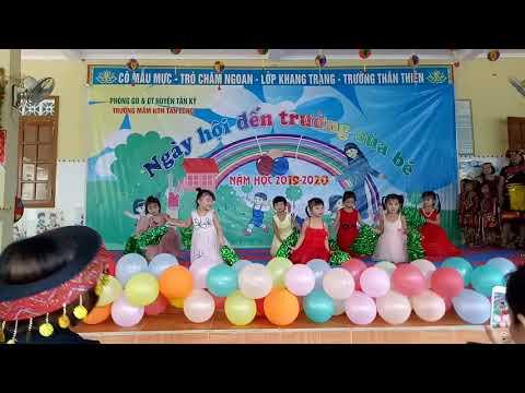 múa vui đến trường lớp mẫu giáo 4-5 tuổi