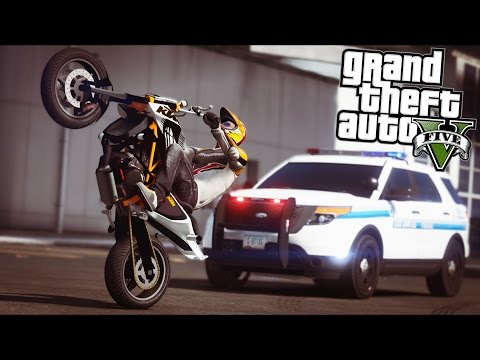 Download GTA 5 - Evade Ep16 - Bike Stunts, Chases, and Shootouts!! HD Mp4 3GP Video and MP3