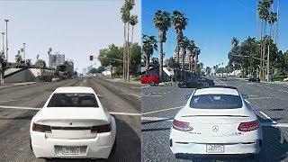 ►GTA 5 Xbox 360 vs PC Ultra-Realistic 2018 Graphics Mod! [GTA 6 Graphics]