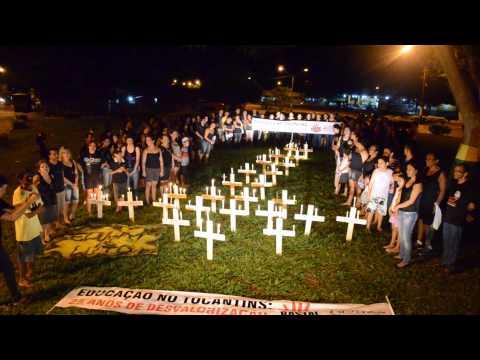 Professores Rezando a Oração dos Educadores em Tocantinópolis