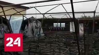 20 сгоревших палаток: пожарных в лагерь вызвали не сразу - Россия 24