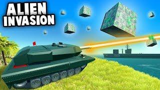 Amazing ANTI-UFO TANK vs ALIEN INVASION! (Ravenfield Best Mods)