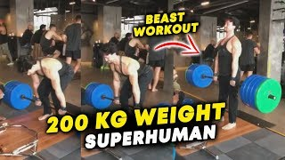 Super-Human Tiger Shroff Lifts 200 Kilos Of Weight - Watch His Beast Workout