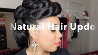 Natural Hair | Natural Hair Updo With Braiding Hair Tutorial