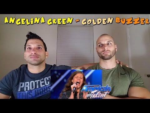Angelina Green: 13-Year-Old Singer Earns Golden Buzzer - America's Got Talent 2017 [REACTION] (видео)
