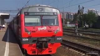 Движение Электропоездов по станции Кушелевка.Приозерское направление.