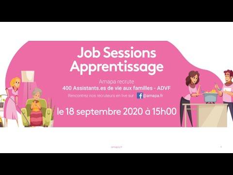 , title : 'Job Session Amapa #8 - Apprentissage formation ADVF