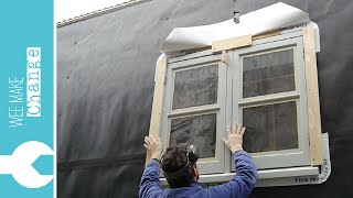 How To Install An Old Wooden House Window Tiny House Project
