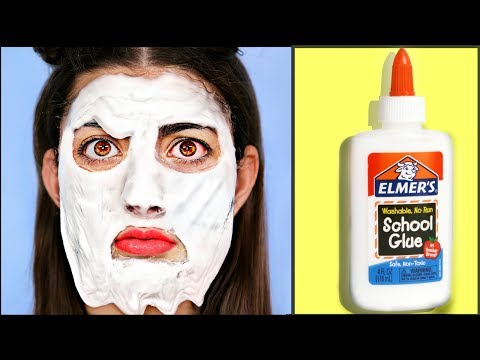 Putting 1 Pound Of Glue On My Face