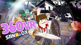 *360도 상황극* 왕국을 지켜라!! [샌박왕국 공성전: 마인크래프트 360VR] Minecraft - 360 VR Role play - [도티]