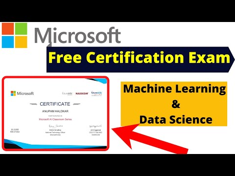 Microsoft Free Course & Exam With Free Certificate  Machine Learning