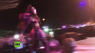 Ariana Grande es agredida con un limón durante el festival Coachella 2019