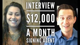 Interview-$12,000 a month notary signing agent AND mother of 3!
