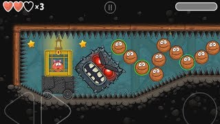 Playing BasketBall in RED BALL 4 CAVES awesome adventure GamePlay (ios\android)