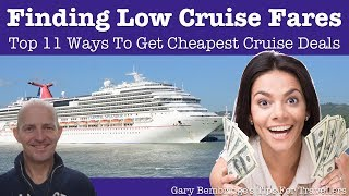 11 Ways To Get Lower Cruise Fares
