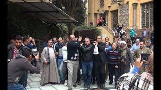 لحظة خروج جثمان أحمد رفعت من مسجد الحامدية الشاذلية