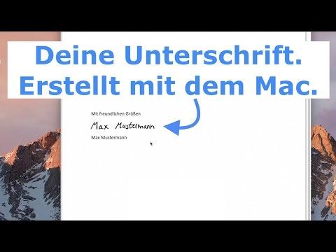 Mac: Signatur / Unterschrift in Dokumente einfügen - So einfach geht's