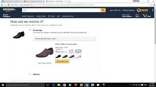 Ho to exchange amazon product return request process