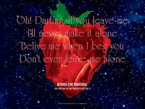 Oh! Darling - Dana Fuchs and Martin Luther {Lyrics}