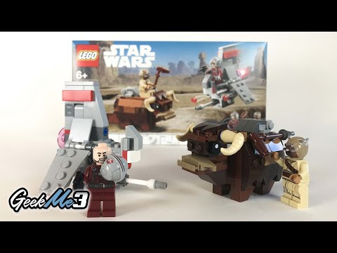 Vidéo LEGO Star Wars 75265 : Le combat des Microfighters : T-16 Skyhopper contre Bantha