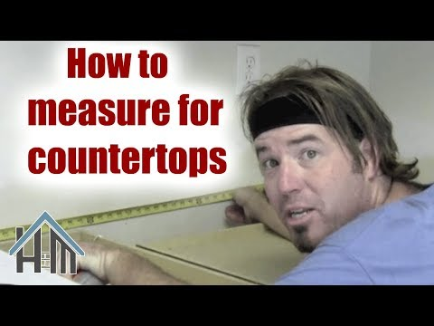 How to measure kitchen counter tops. Easy! Home Mender