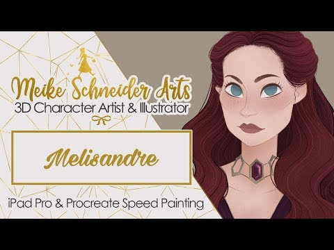 iPad Pro Speed Painting in Procreate Game of Thrones - Melisandre