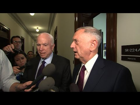 Mattis Meets With McCain, Graham Over Niger