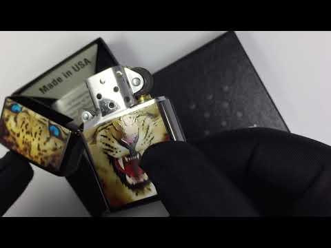 28276 Зажигалка Zippo Leopard, Ebony Chrome