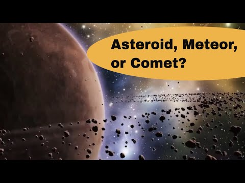 What are asteroids,comets and meteors?