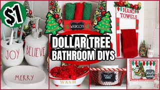 DOLLAR TREE BATHROOM CHRISTMAS DIYS YOU HAVE TO TRY! EASY AND INEXPENSIVE