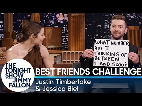 Best Friends Challenge with Justin Timberlake and Jessica Biel (видео)