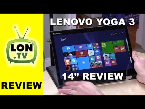 Lenovo Yoga 3 Review - 14 inch Convertible Laptop / Tablet - Web, Movies, Word, Gaming