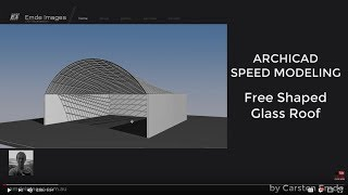 How to model a free shape glass roof